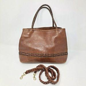 Vintage Leather Cognac Brown Bag